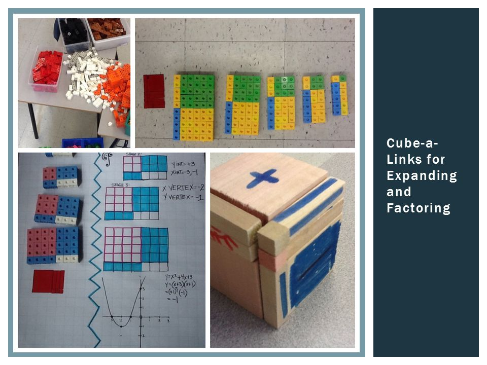 Cube-a- Links for Expanding and Factoring
