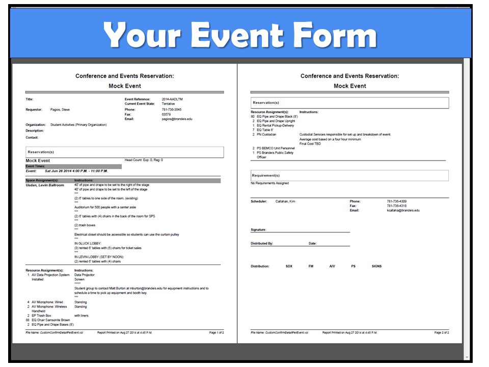 Your Event Form