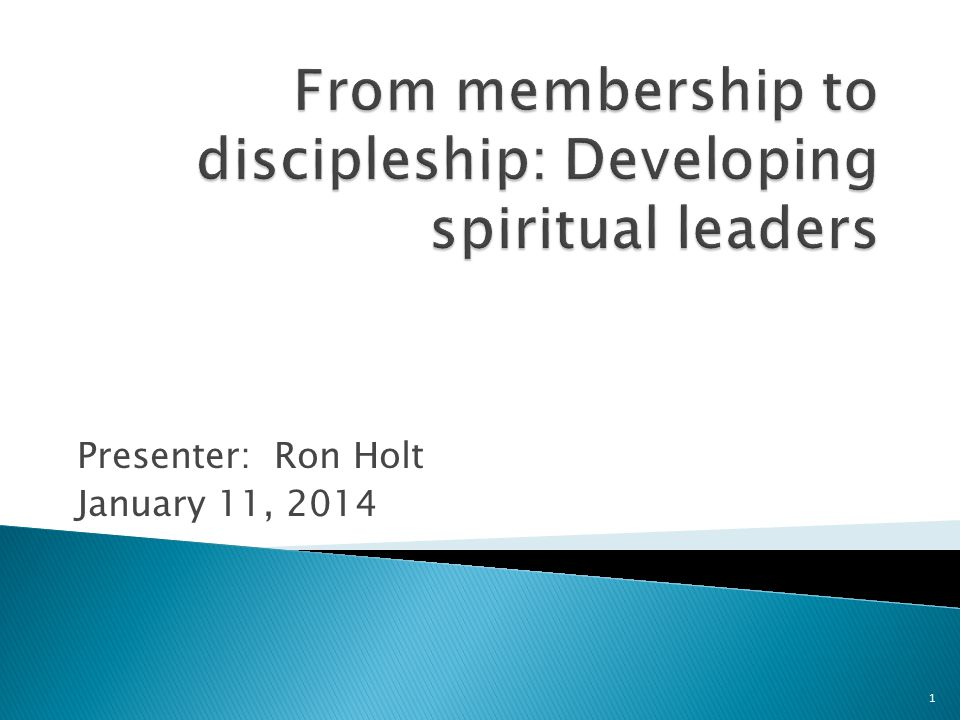 The failure to make disciple-making a priority is the basic cause of our current malaise and stagnation.