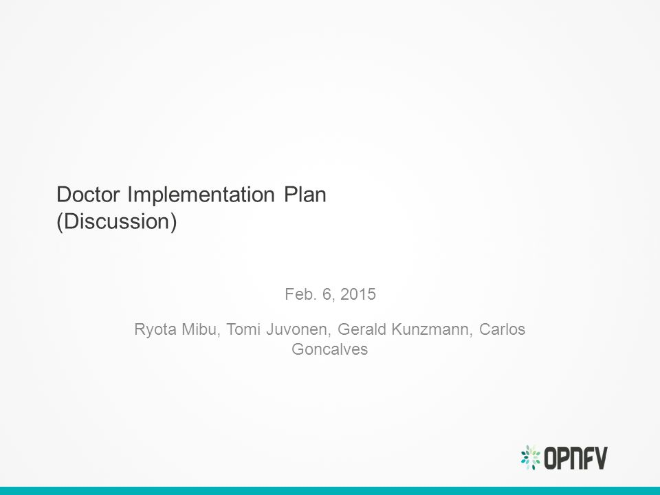 Doctor Implementation Plan (Discussion) Feb.