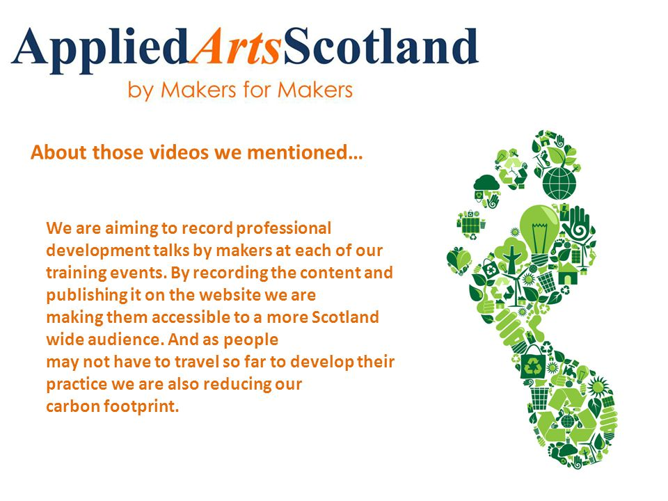 To access the presentations just visit our resources page onresources the website.