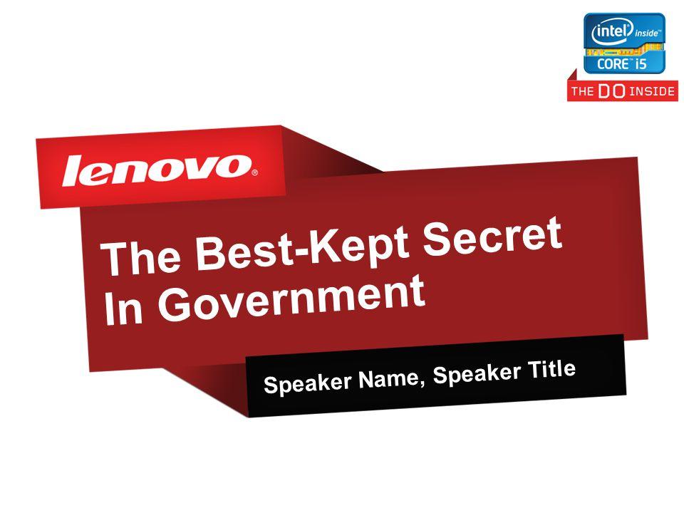 The Best-Kept Secret In Government Speaker Name, Speaker Title