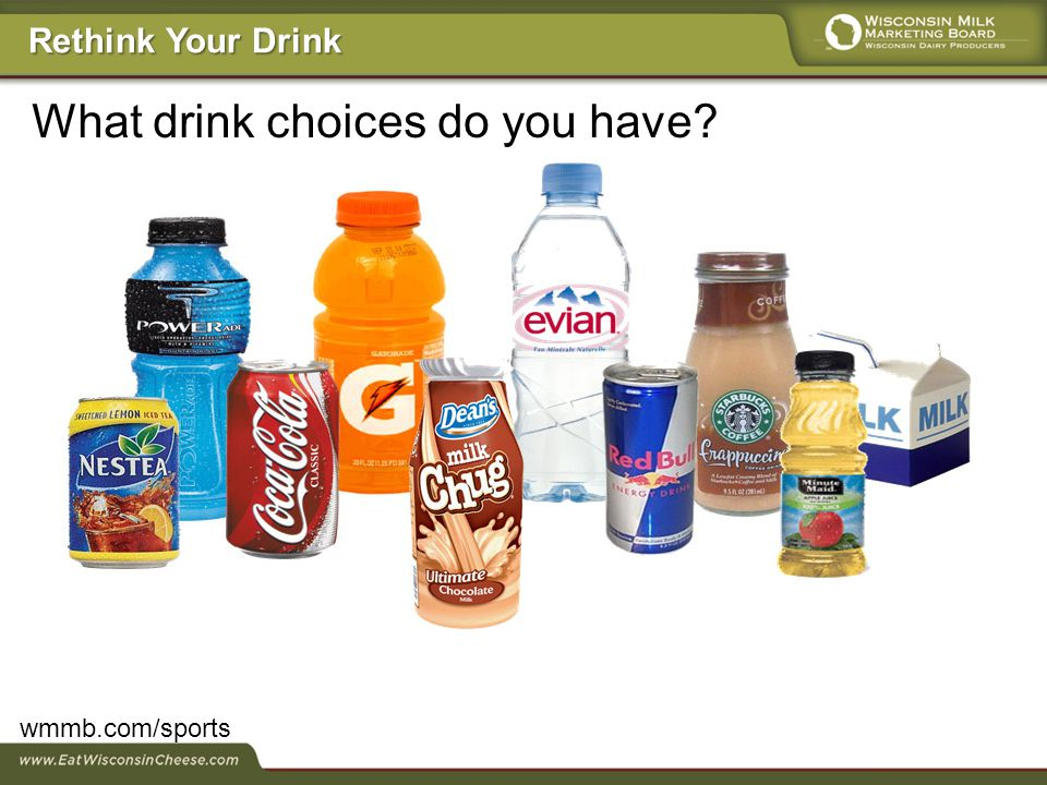 What drink choices do you have? wmmb.com/sports Rethink Your Drink