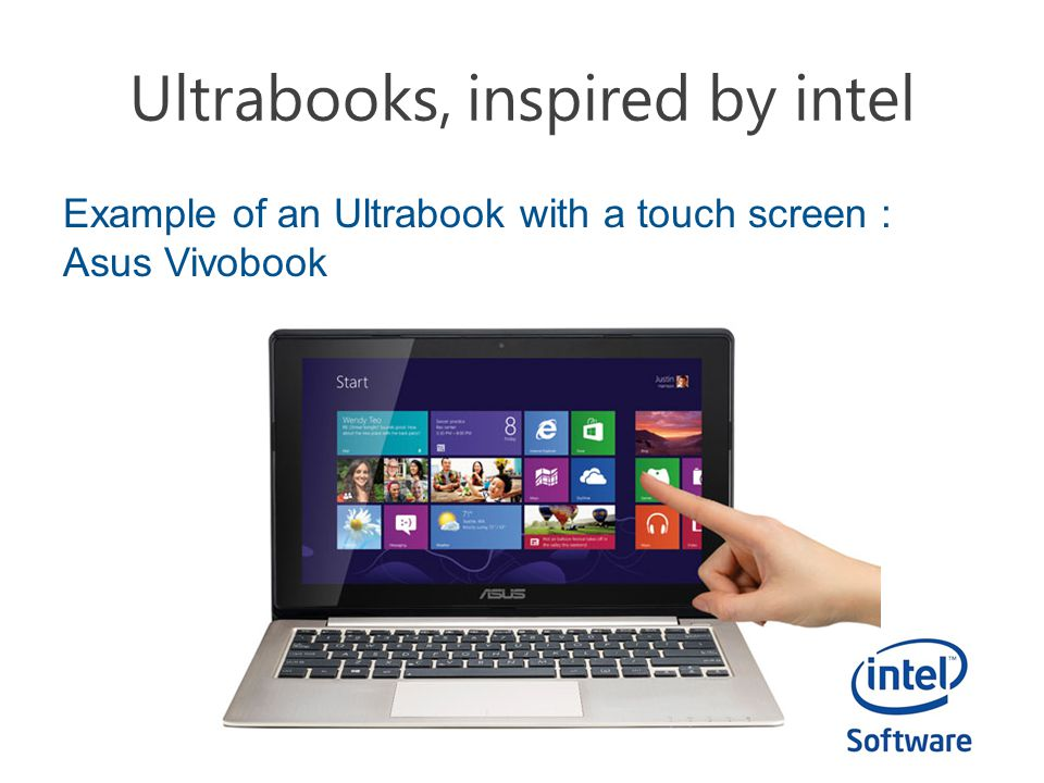 Ultrabooks, inspired by intel Example of a detachable design : Lenovo ThinkPad Tablet 2