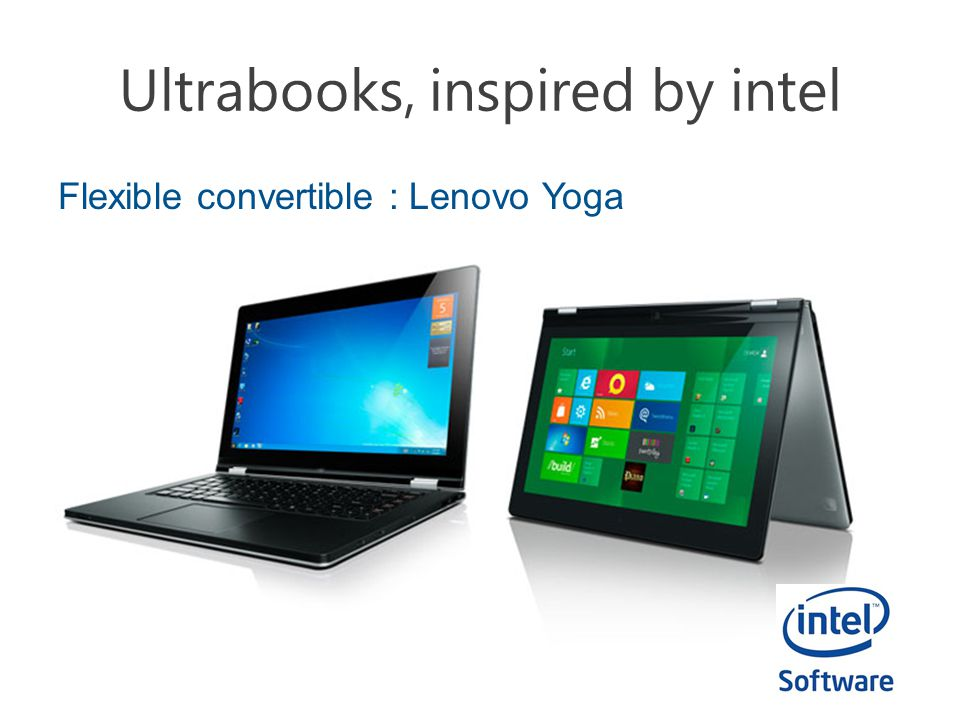 Ultrabooks, inspired by intel Flexible convertible : Lenovo Yoga