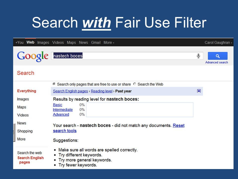Search with Fair Use Filter