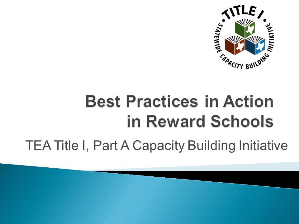 TEA Title I, Part A Capacity Building Initiative