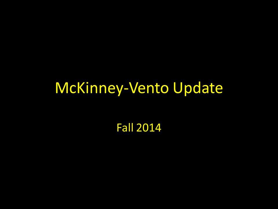McKinney-Vento Update Fall 2014