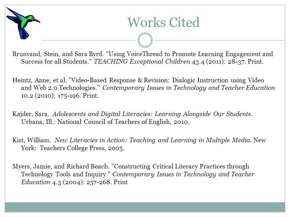Works Cited Brunvand, Stein, and Sara Byrd.