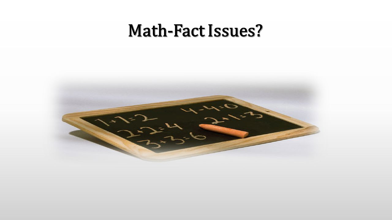 Math-Fact Issues?