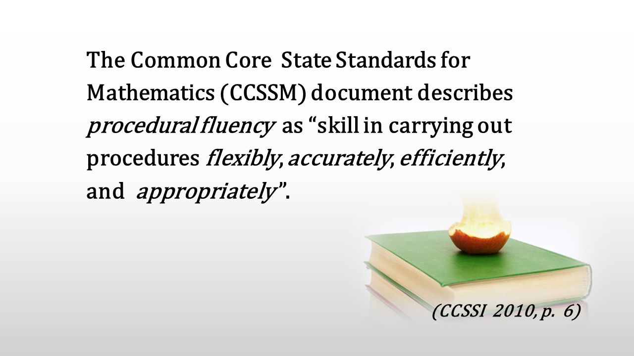 The animation is already done for you; just copy and paste the slide into your existing presentation. The Common Core State Standards for Mathematics