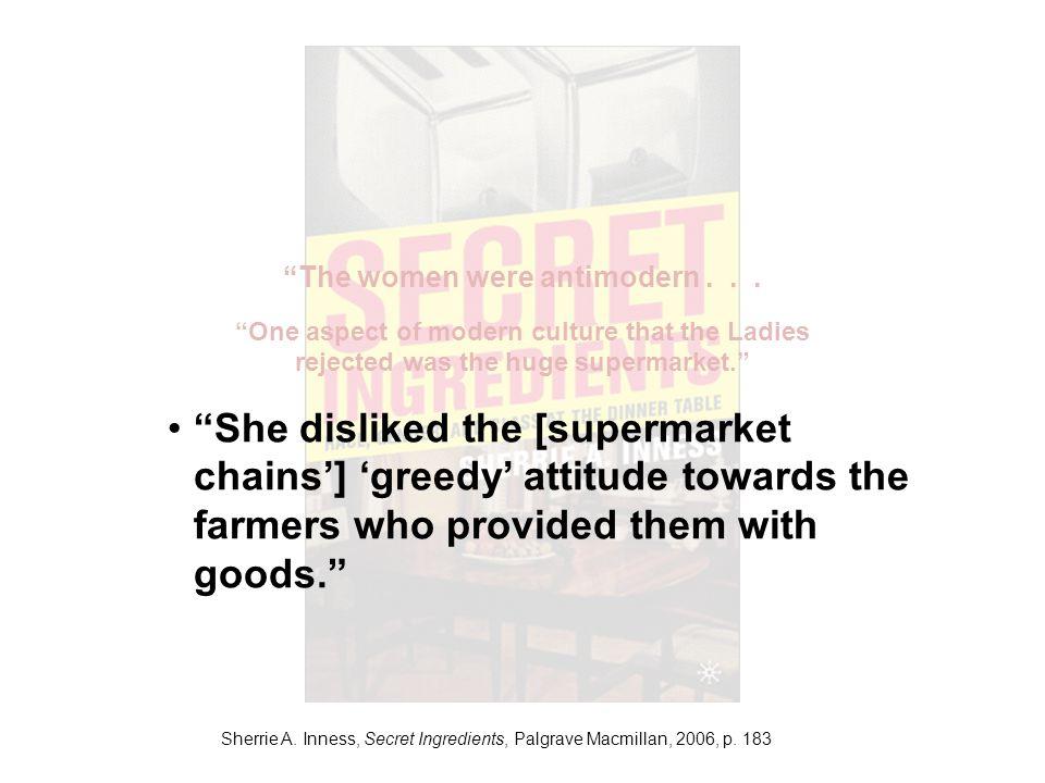 Sherrie A. Inness, Secret Ingredients, Palgrave Macmillan, 2006, p.