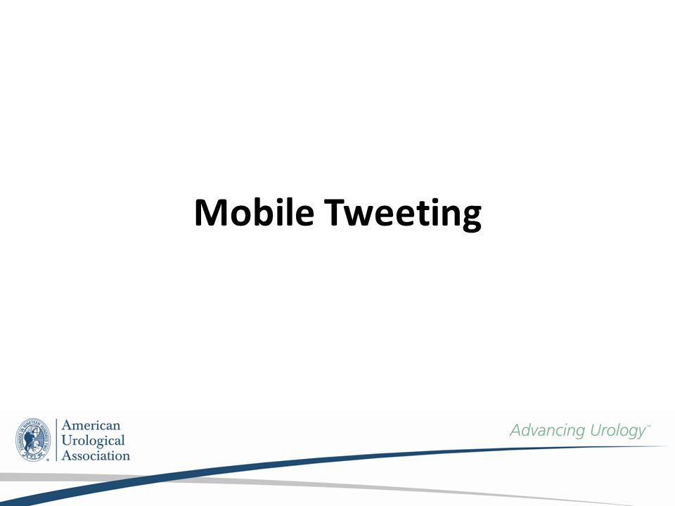 Mobile Tweeting