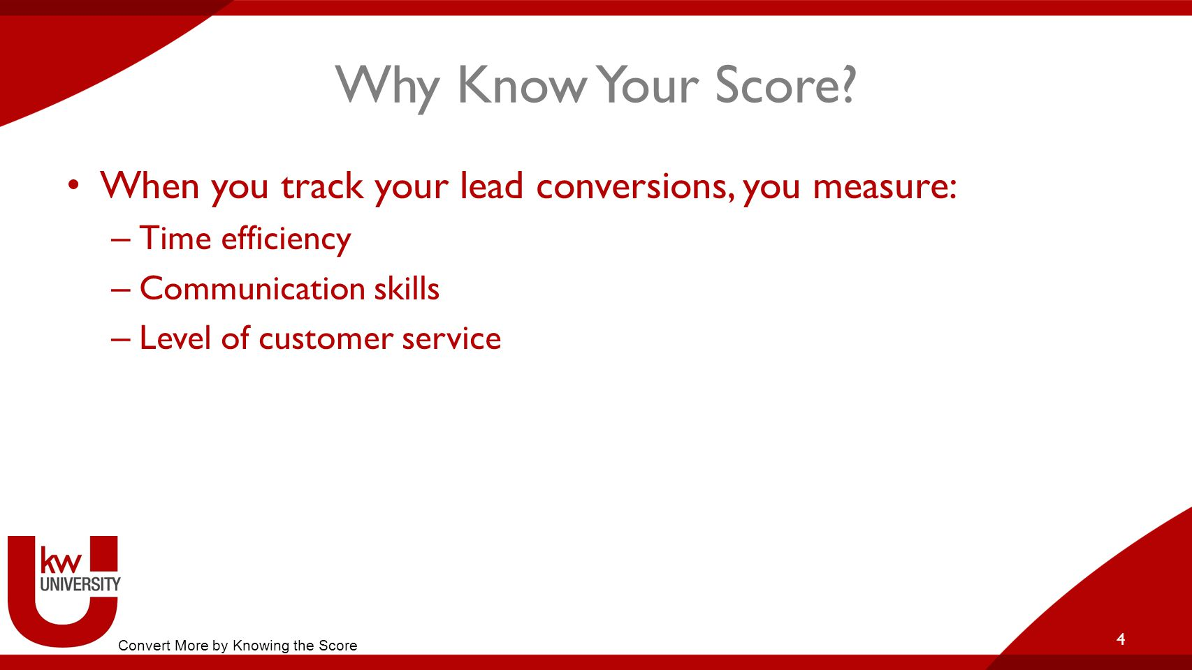 Why Know Your Score.