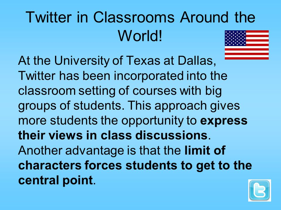 Twitter in Classrooms Around the World.
