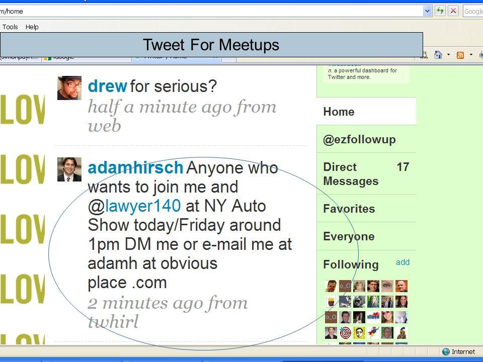 Tweet For Meetups