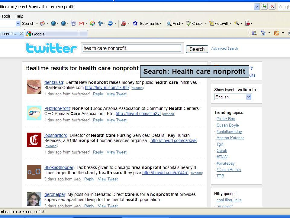 Search: Health care nonprofit