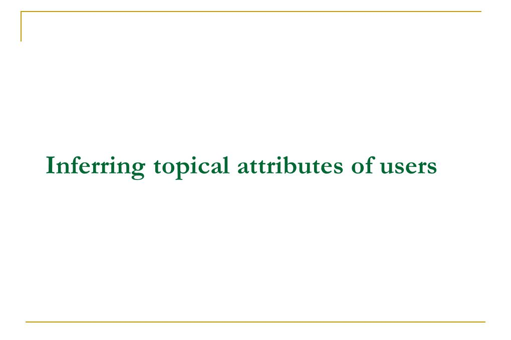 Inferring topical attributes of users