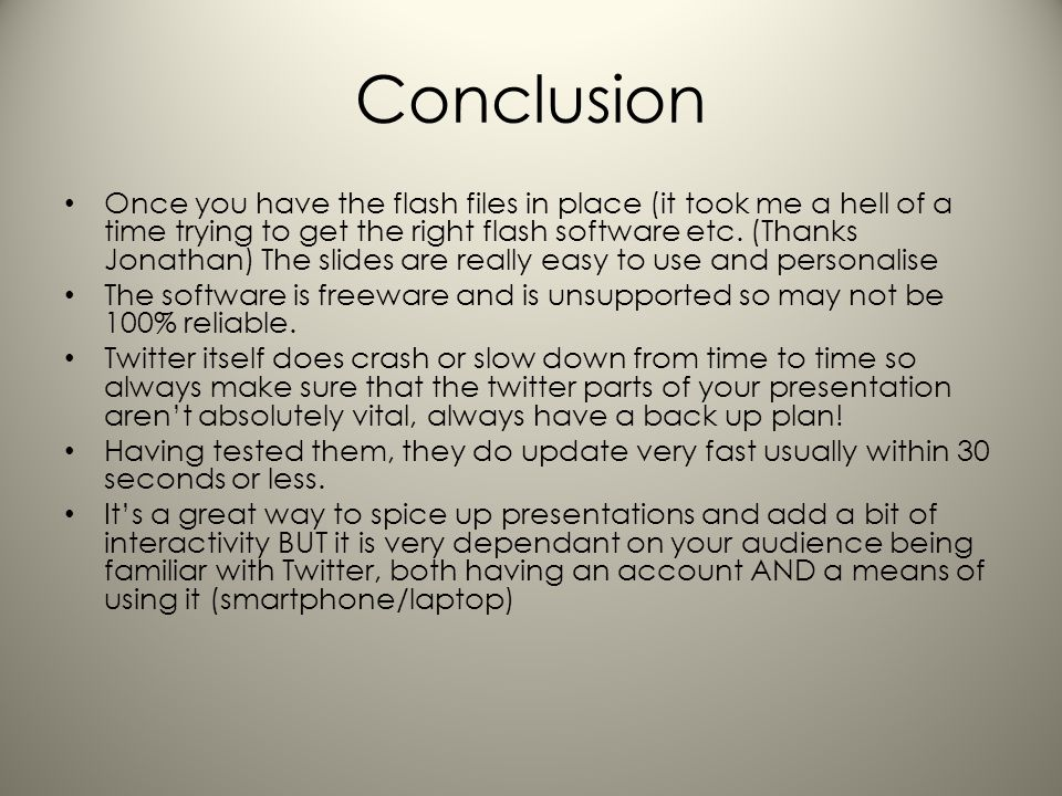 Conclusion Once you have the flash files in place (it took me a hell of a time trying to get the right flash software etc.