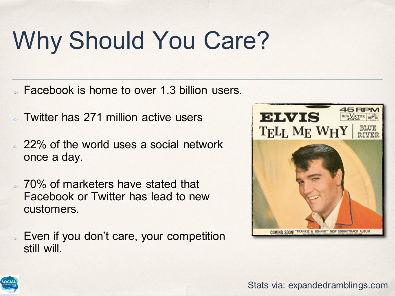 Why Should You Care. ✤ Facebook is home to over 1.3 billion users.