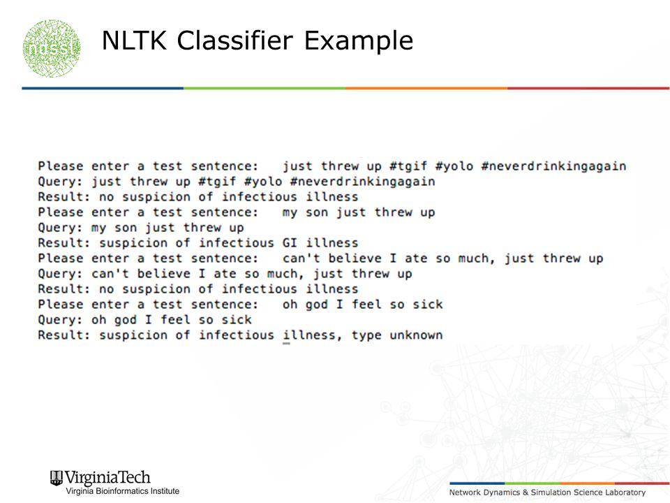 NLTK Classifier Example