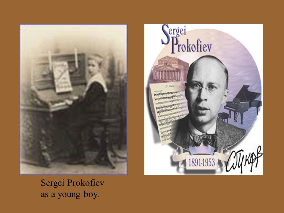 Sergei Prokofiev as a young boy.
