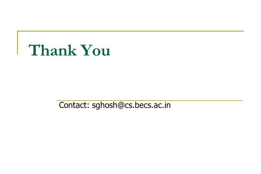 Thank You Contact: sghosh@cs.becs.ac.in