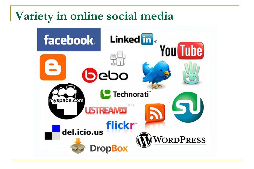 Variety in online social media