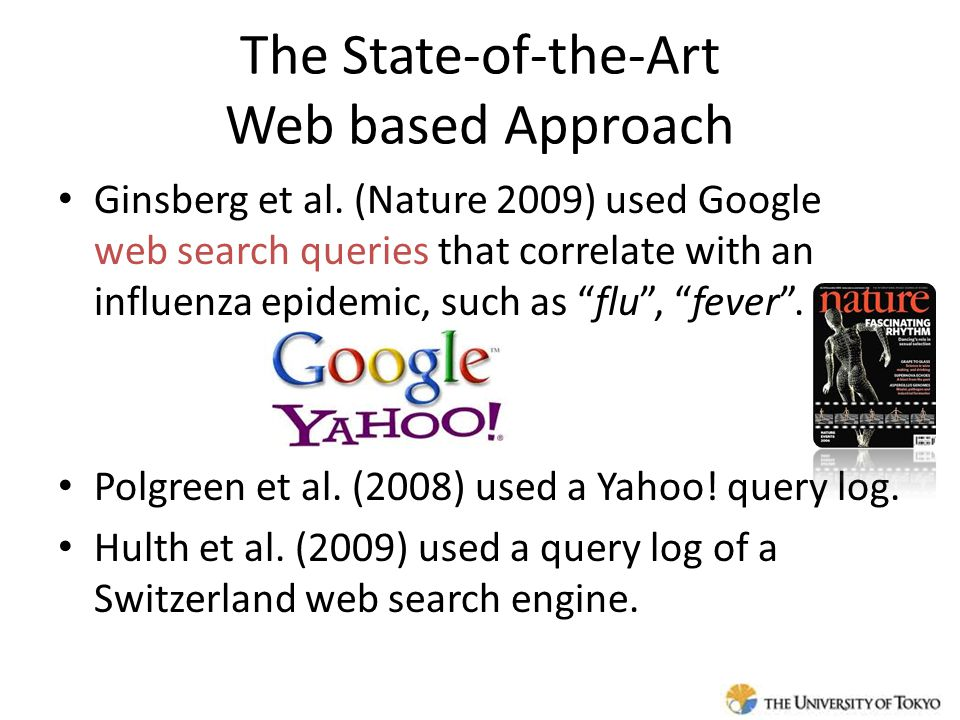 The State-of-the-Art Web based Approach Ginsberg et al.
