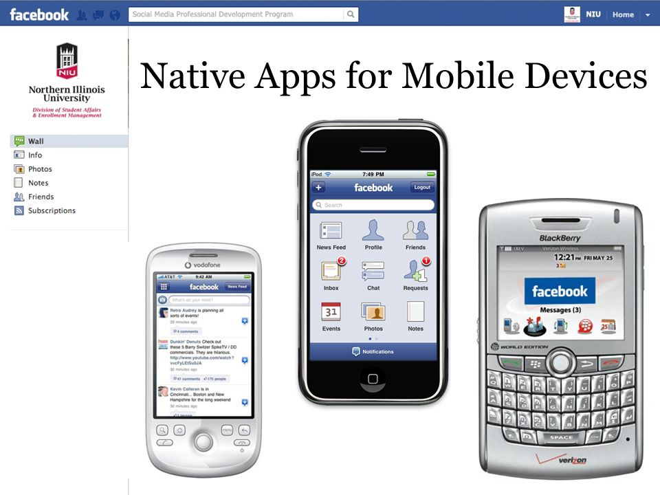 Native Apps for Mobile Devices