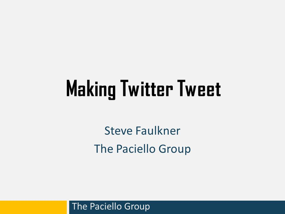 The Paciello Group Beyond Twitter - WAI-ARIA WAI ARIA – web accessibility initiative - accessible rich internet applications A W3C specification (in development) Provides a way to add Name, Role and State information to custom controls (widgets) built using current HTML elements, so that Assistive Technology can reliably convey this information to the user.