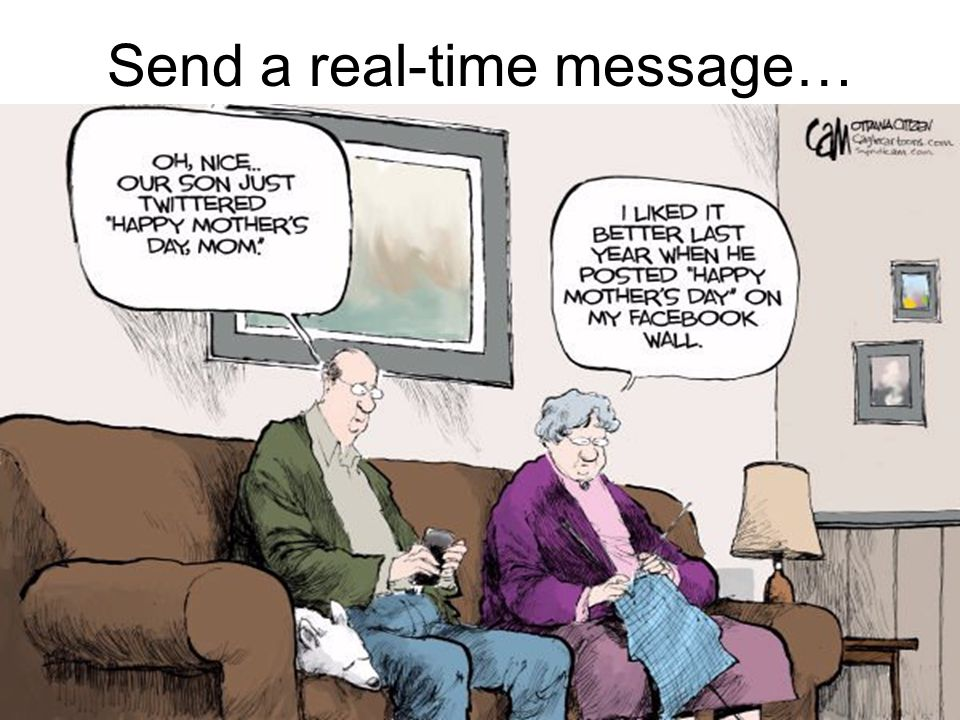 Send a real-time message…