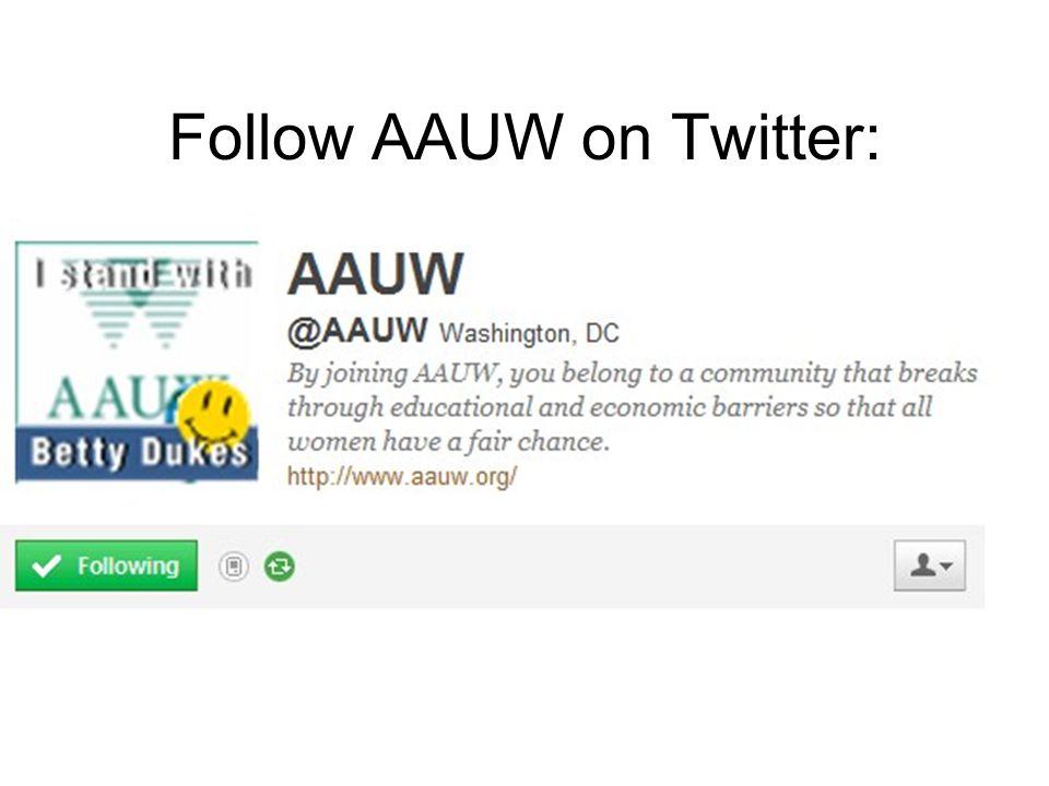 Follow AAUW on Twitter: