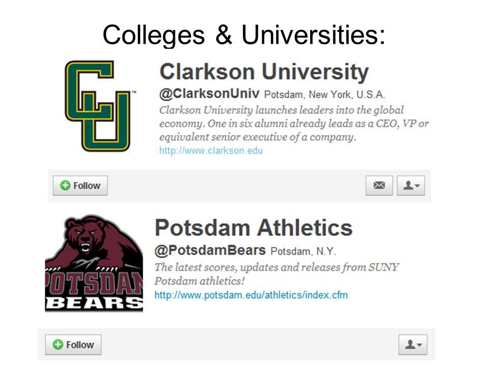 Colleges & Universities: