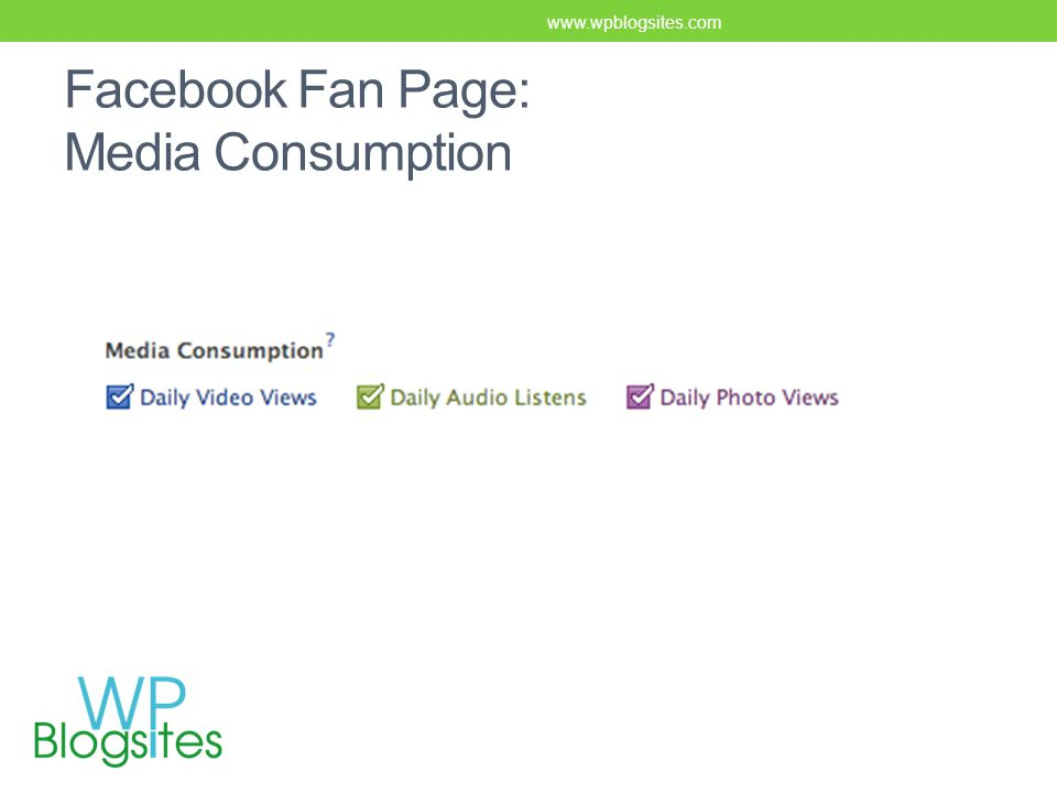 Facebook Fan Page: Media Consumption