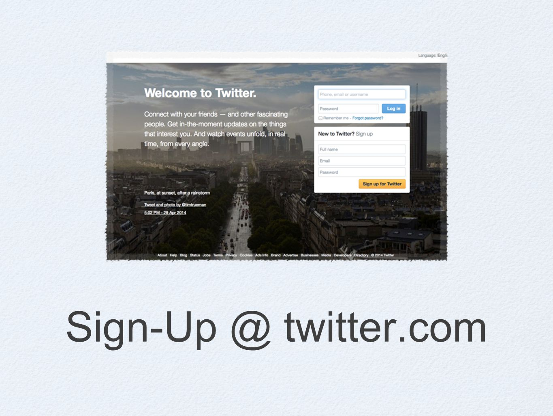 Sign-Up @ twitter.com