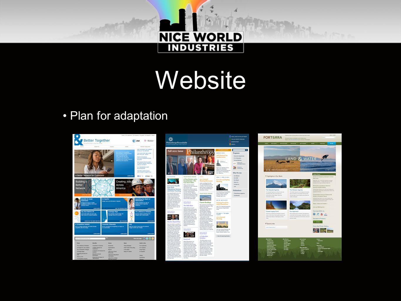 Website Plan for adaptation