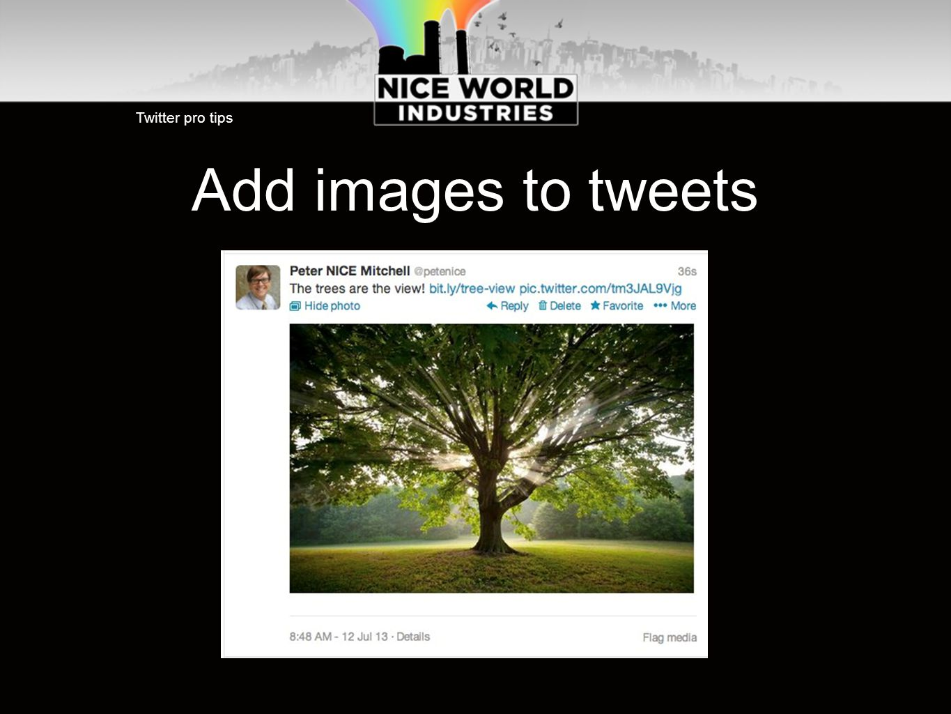 Add images to tweets Twitter pro tips