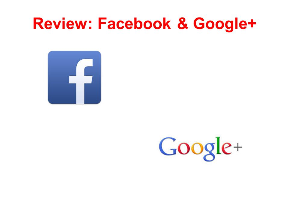 Review: Facebook & Google+