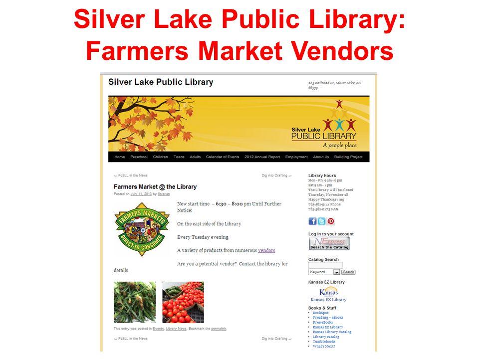 Silver Lake Public Library: Farmers Market Vendors