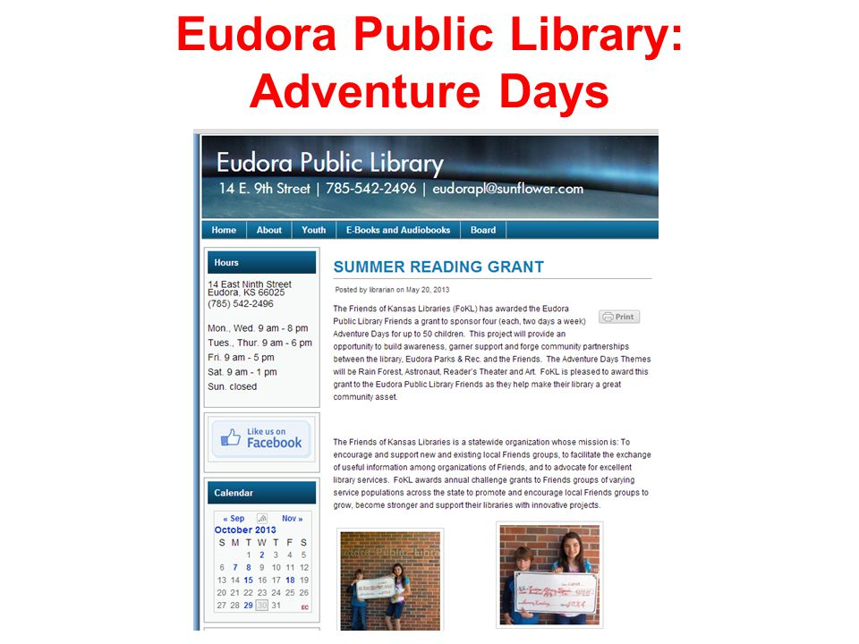 Eudora Public Library: Adventure Days