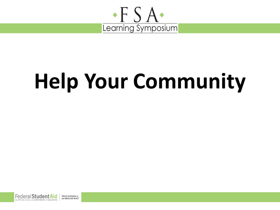 Help Your Community