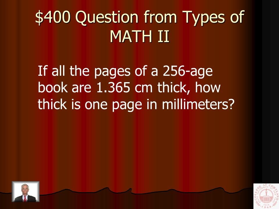 $200 Answer from Types of MATH II 34 o