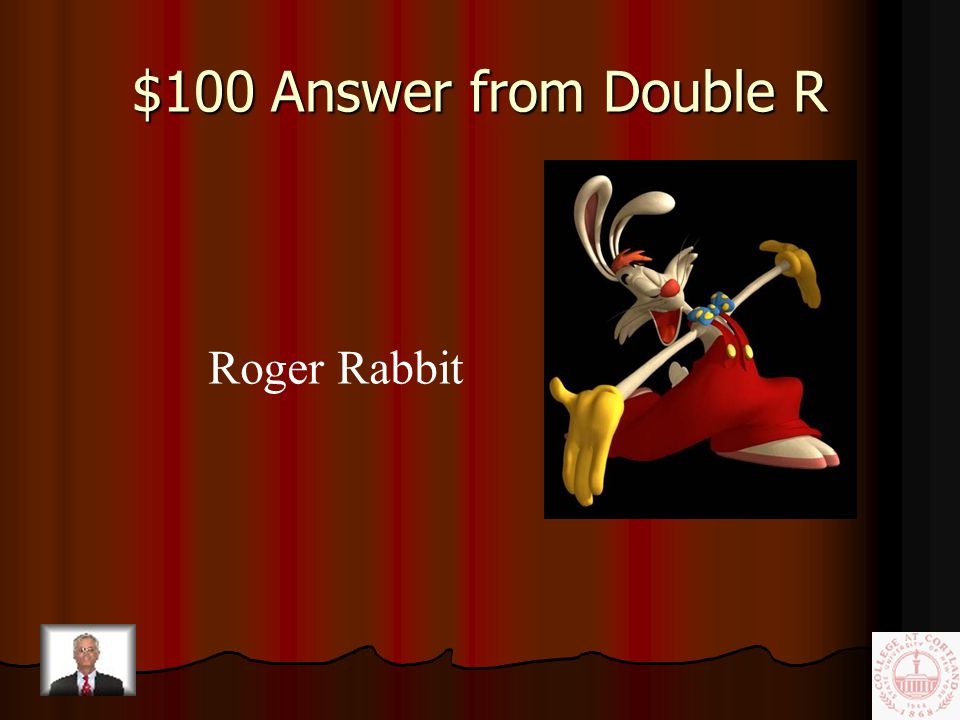 $100 Question from Double R In a 1988 film, this cartoon Bunny is accused of murder.