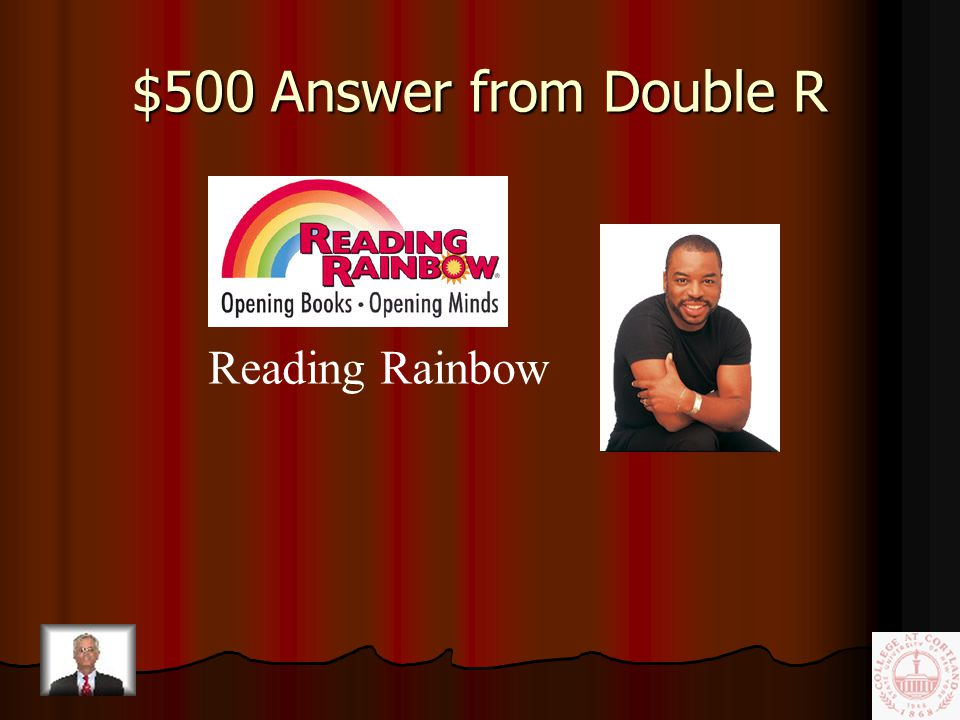 $500 Question from Double R This television show of the 1980's featured Levar Burton introducing children to various books.