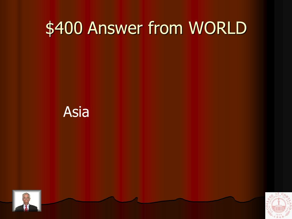 $400 Question from WORLD Largest continent