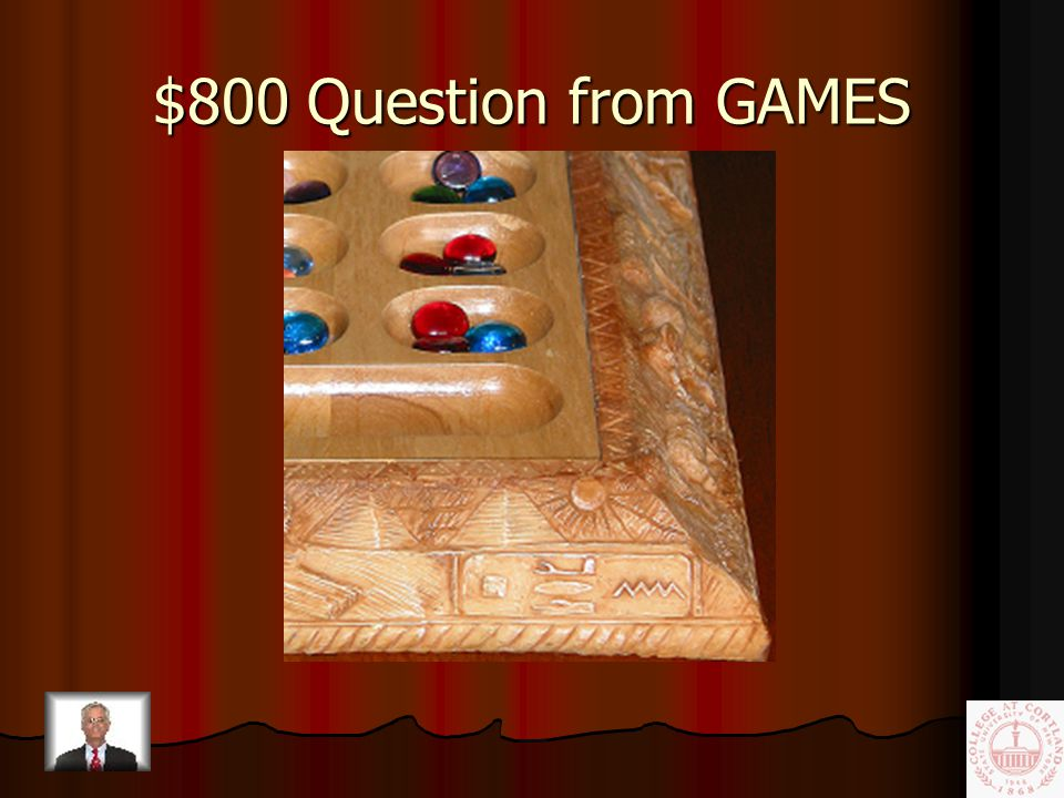 $600 Answer from GAMES Chinese Checkers