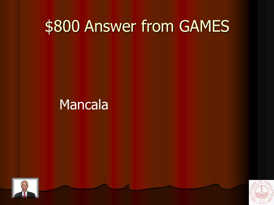 $800 Question from GAMES