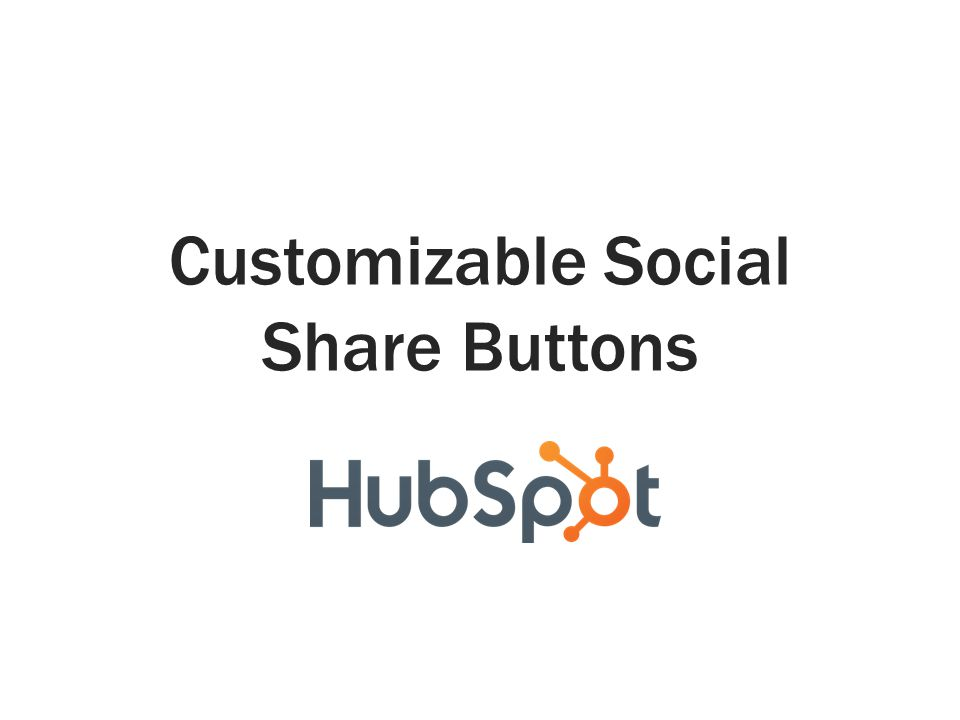 Customizable Social Share Buttons