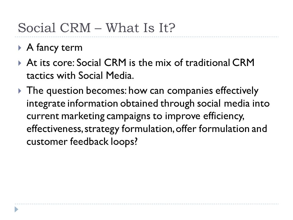 Social CRM – What Is It.